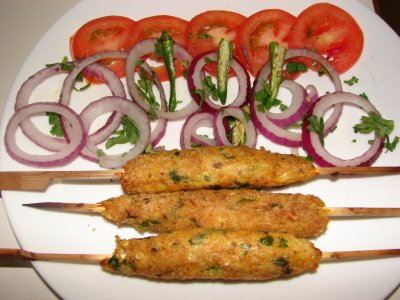 Seekh Kabab or Chicken Kabab